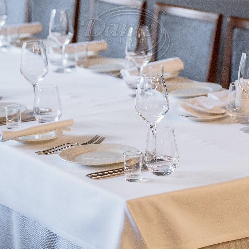 Restaurační ubrus Grádl bílý