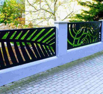 Plotové dílce a hliníkové ploty vyřezávané laserem